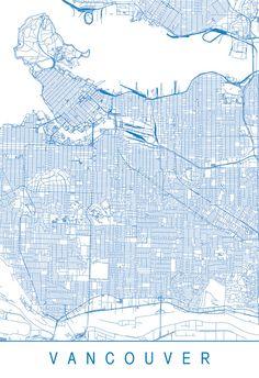 PARIS MAP PRINT Modern Paris France City Map Print Art - Modern map of paris