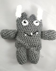 Crochet toy toy monster stuffed toy handmade by SweetPeaBoutique15