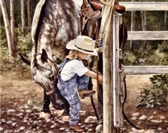 Little Cowgirl ~ Maurade Baynton....hang on I'm coming