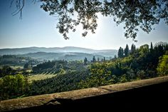 """Springtime in Tuscany From a big park in Arezzo called """"Il Prato"""" you can have such a view over the countryside with cypress and olive trees"""