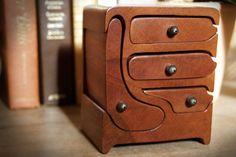 Mahogany bandsaw jewelry box - Lazerette.