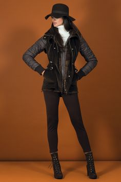 THE DOUBLE JACKET Dark brown fur-jacket with removable velvet vest. The perfect jacket to fight the winter with style.