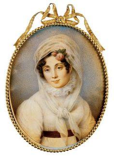 Portrait Miniature of a Lady, by Joseph Bordes, 1800s