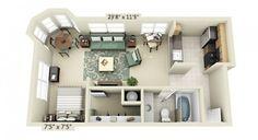 plan-appartement-studio-avec-cuisine-carrelage