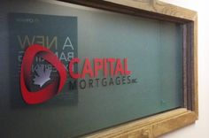 Window signage for Capital Mortgages Inc completed by Speedpro Imaging Ottawa.