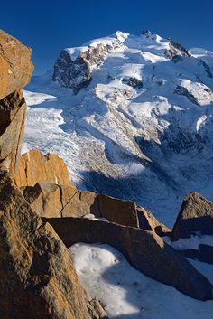 Monte Rosa mit Duforuspitze im Wallis   Altitude 4634m   Good practice before Mont-Blanc ascension