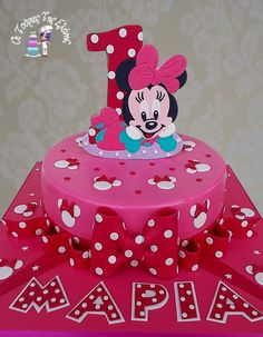 Minnie cake. My cakes are chocolate sponge cake  then drizzled with syrup and topped with pastry cream. The pastry cream can be of your favourite choice such as: Black Forrest, Ferrero Rocher, Oreo, Cookie, Vanilla Strawberry, Chocolate Strawberry,  Almond, Caprice, the choices are endless and yours. The most important factor is that the end result is tasty, moist and juicy.