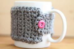 crochet coffee cozy by Crochetiquette on Etsy, $2.50