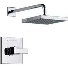 Delta Arzo Chrome 1-Handle Shower Faucet Faucet Trim Kit with Single Function Showerhead  (x 2)