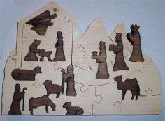 Scrollsaw nativity puzzle