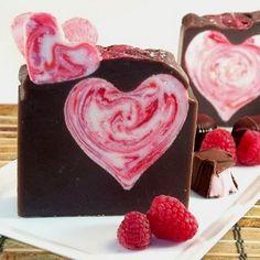 DIY Dark Chocolate Raspberry Love-ly Valentine Soap ~ Bath Alchemy - A Soap Blog and More