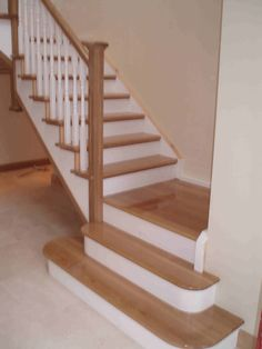 staircases white and oak - Google Search