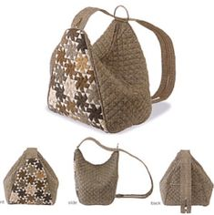 New origami bag anleitung Ideas Patchwork Bags, Quilted Bag, Handmade Handbags, Handmade Bags, Handmade Bracelets, Origami Bag, Diy Origami, Spring Bags, Bag Patterns To Sew