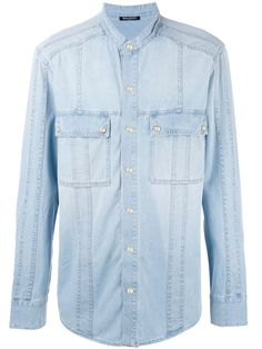 Compre Balmain Camisa jeans com bolsos.