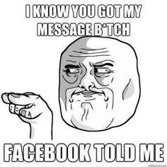 Facebook told me xx