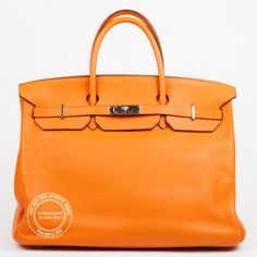 40cm Orange Birkin in Taurillon Clemence Leather with Palladium Hardware – Preloved. Everyone knows where this colour comes from and every Hermes lover knows that the Hermes Orange works with pretty much every outfit every season!  For more info: whatsapp +44 7748 630646 or https://lilacblue.com/product/40cm-orange-birkin-preloved/ #hermespreloved #hermesorange #birkinbag #luxurybags #hermesbags