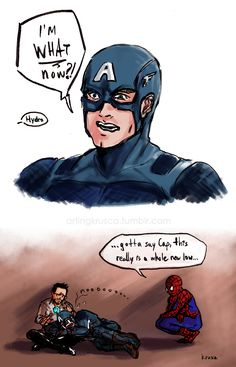 #saynotoHYDRAcap I suddenly want metafiction of Cap reacting to his newly corrupted canonical status