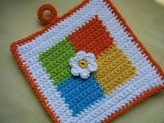 Four Square Crochet Potholder Pattern - FREE