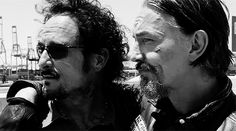 Sons Of Anarchy. I knew before I even hit play that Chib's was going to kiss someone.