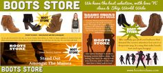 Visit this site http://www.bootsnclass.com/ for more information on Boots Store. The online Boots Store also offers many people the chance to enjoy cheaper prices on the items they are most in need of. This is considering that most of the stores offer sales and discounted items making it possible to buy what you desire most at a price that is most affordable for you.  Follow Us: http://www.folkd.com/user/texastshirts