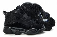 67634d582605 Air Jordan 6 Rings Retro Black Kids's Cheap Jordans, First Air Jordans,  Black Jordans