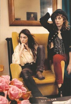 complexlovex:  Charlotte and Lou sitting in the living room of Yvan & Charlotte's home in Paris. The photograph was taken by their sister Kate Barry.
