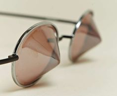 The Issey Miyake Conical Sunglasses Stand Out From the Rest #fashion trendhunter.com