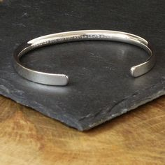 silver personalised men's bracelet by hersey silversmiths | notonthehighstreet.com