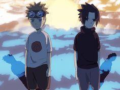 Naruto Uzumaki e Sasuke Uchiha Sasunaru, Naruto Uzumaki, Boruto, Naruto And Sasuke, Kakashi Sensei, Narusasu, Anime Naruto, Anime Manga, Anime Guys