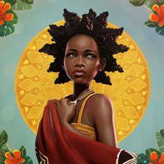 Black Love Art, Black Girl Art, Art Girl, Black Art Painting, Black Artwork, Trippy Painting, African American Art, African Art, Illustration Pop Art