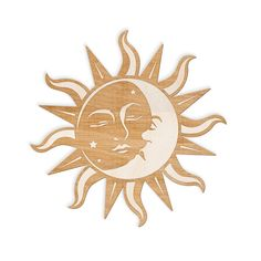 Custom Laser Engraved wood sign featuring the sun and moon intertwined together. ► Available in 3 Sizes: 8 wide, 12 wide (+$10.00), or 18…