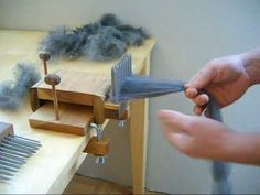 Combing Wool with Benjamin Green Standard Wool Combing Kit - YouTube.  I might need this.  For real