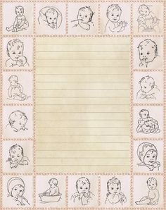 Lilac & Lavender: Vintage Baby Stationery
