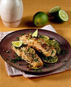 Tranci di salmone al lime