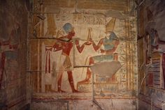 Nesi (Pharaoh) Seti I before Horus - 19th Dynasty (Temple of Seti, Abydos, Egypt)