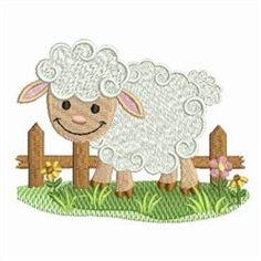19f804cb8 Farm Animal Lamb embroidery design Baby Farm Animals