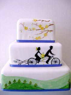 cycling wedding cake - Google Search
