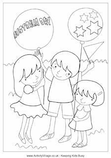 australia day colouring pages | ... of Australian Colouring in ...