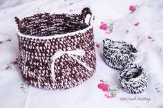 Crochet basket crochet yarn storage Crochet by CuteLambKnitting