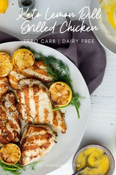 This zero carb keto marinade is ideal for your chicken fish seafood or pork. Tangy lemon and fresh dill come together for a refreshing and crisp way to enjoy grilled chicken on your keto diet. Slow Cooker Recipes, Low Carb Recipes, Crockpot Recipes, Chicken Recipes, Healthy Recipes, Grill Recipes, Paleo Food, Turkey Recipes, Eat Healthy