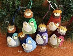 Wool Felt Easter Egg Sugar Cookie Ornament Color Choice