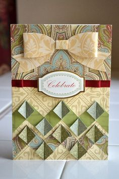 paper bow card scrapbook page layout - Google Search