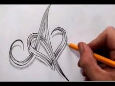 letter heart tattoos - Google Search