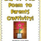 This is a sweet craftivity with a poem (not written by me) to share with parents at the end of the year. Just a poem to express how much you enjoye...