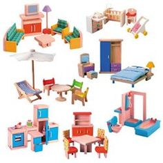 Inspiration  Wooden Doll House Furniture Group PlanToys http://www.amazon.com/dp/B00159S4RG/ref=cm_sw_r_pi_dp_cU4Tvb0GJV6TY