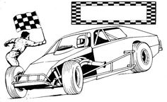 Start Race Car Coloring Page