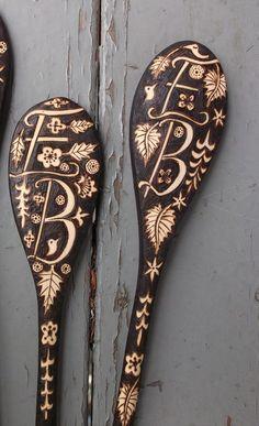 by burnedfurniture- wood burned spoons