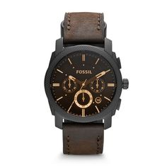 online shopping for Fossil Men's Analog Watch Brown Band from top store. See new offer for Fossil Men's Analog Watch Brown Band Herren Chronograph, Fossil Watches For Men, Cool Watches, Wrist Watches, Casual Watches, Brown Leather Watch, Fossil Leather Watch, Black Leather, Men Stuff