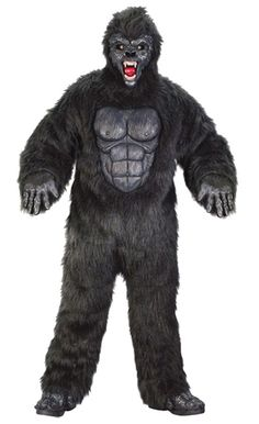 High Quality FEROCIOUS GORILLA Suit ADULT Unisex Hallowen Costumes Plus Size  sc 1 st  Pinterest & Menu0027s Complete Gorilla Suit Mascot Adult Costume - Black - One-Size ...