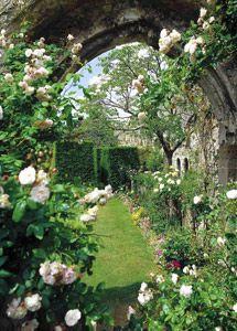 Secret Gardens of Amberley Castle, West Sussex, England